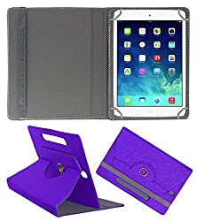 Acm Designer Rotating Case For Apple Ipad Mini Stand Cover Purple