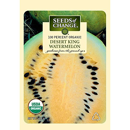 Seeds of Change Certified Organic Watermelon, Desert King - 3.6 grams, 30 Seeds Pack