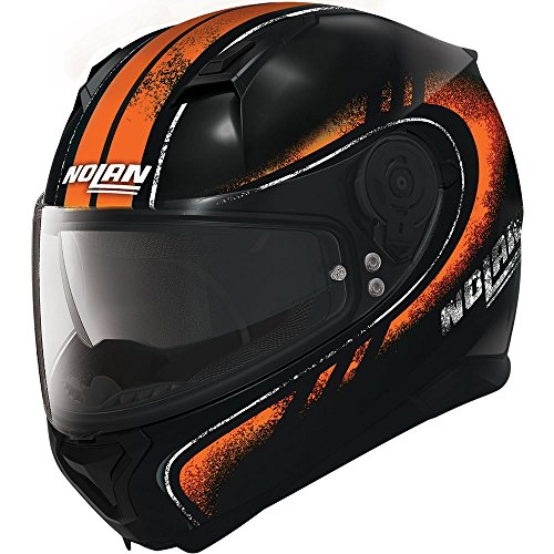 Nolan N87 fulgor N-COM Full Face Casque de moto - noir/orange