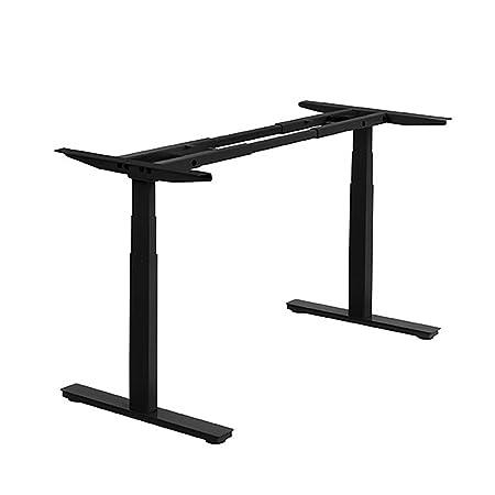 ActiveDesk Telaio fai da te per scrivania per lavorare in piedi, con controllo elettrico per altezza regolabile da 60cm a 127cm, colore nero