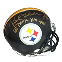 Rocky Bleier Signed Autograph Pittsburgh Steelers Mini Helmet Authentic Certified Coa