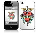 Music Skins iPhone 4用フィルム  Bon Jovi - Heart & Dagger  iPhone 4  MSIP4G0241