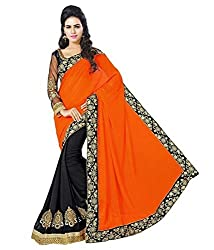 ROSHNI FASHIONS Multicolour Georgette Material With Blouse Saree