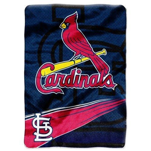 Mlb St. Louis Cardinals Speed Plush Raschel Throw Blanket, 60X80-Inch front-501829