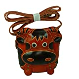 Genuine Leather Messenger Bag, Cow Design, Handmade and a Lovely Satchel