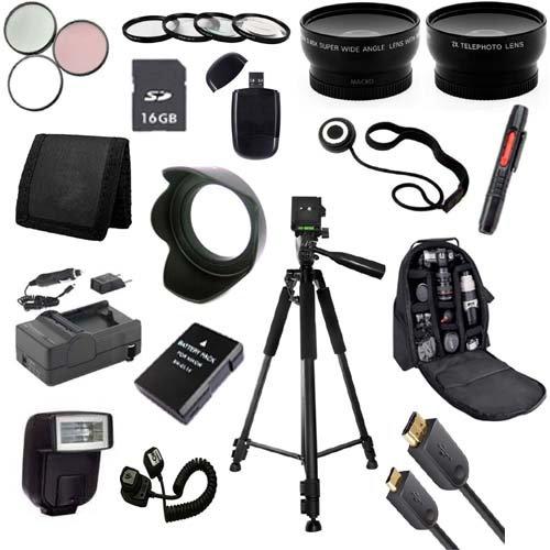 Outdoor Accessory Package For Nikon D3100, D3200, D5100, D5200 Dslr Cameras (Nikon 55-300Mm Or 50Mm F/1.8G Lenses)