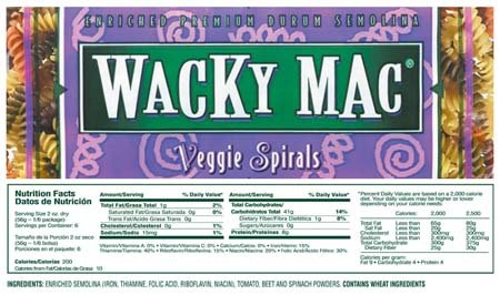 Foulds Pasta Spirals Veggie 12 oz (Pack Of 12)