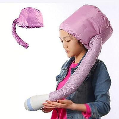 Akak Store Comfort Home Portable Salon Hair Dryer Soft Hood Bonnet Hair care Attachment (1Pcs,Random Color )