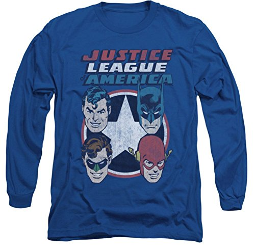 Justice League 4 Stars Long Sleeve T-Shirt