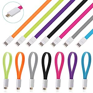 High Quality 9 inch 2.0 Micro USB power bank charging Band Cable Noodle Charging Sync short Cable for Micromax X246 and many other android smart phones. Non-Retail Packaging - Any one color from shown here.