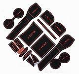 日産 2013/12以降 T32 エクストレイル X-TRAIL 専用 ロゴ入り アクセサリー ラバー マット (黒×赤)
