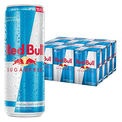 Red Bull Sugarfree, Energy Drink, 12 Fl Oz Cans (6 Packs of 4, Total 24 Cans)