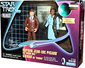 "CAPTAIN JEAN-LUC PICARD as ""DIXON HILL"" and GUINAN as ""GLORIA"" as seen in Star Trek: The Next Generation Holodeck Series from the Episode ""Clues"""