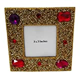 Handmade Photo Frame Indian Gift Lac Beaded Material Vintage Style Antique Photo Frame Home Decor Table Top Picture...