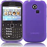 Gel Skin Cover Case For Samsung Ch@t Chat 335 S3350 / Purple