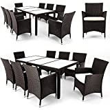 Polyrattan garden patio furniture set -Table & chairs set - Brown...
