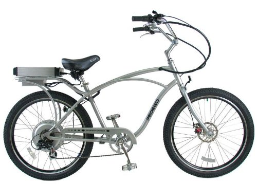 PEDEGO Electric Bicycle Classic Cruiser Silver/Black