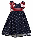Bonnie Jean Toddler Girls 4th of July Summer Dress, Navy, 2T - 4T