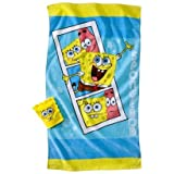 Spongebob Bath Towel/Wash Mitt Set