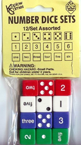 Koplow Games Inc. Number Dice Set - 1