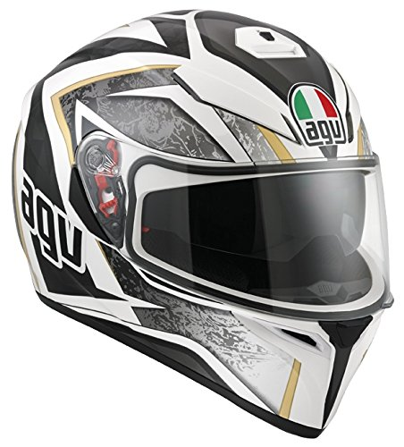 AGV Helmets 0301A2EY_003_ML Casque de Moto, Blanc, Taille M