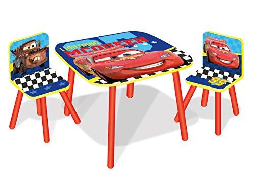 Kindertisch-mit-Sthlen-Cars-McQueen-BlauRot-Kinderstuhl-Set-Spieltisch-60-x-60-x-44-cm
