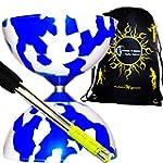 JESTER Pro Diabolo Set (Bleu/Blanc) +...