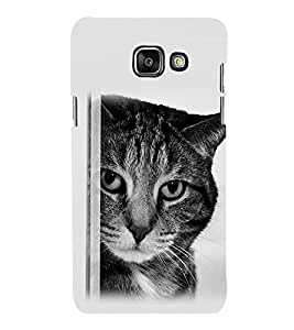 printtech Cat Looking Back Case Cover for Samsung Galaxy A3 2016 Edition