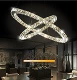 Eurohandisplay LED Pendelleuchte 3310WJ-2 Ringe 60 W. Mit Fernbedienung Lichtfarbe