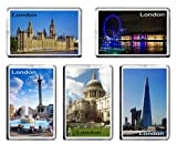 Set of 5 LONDON Fridge Magnets UK England Travel Landmarks
