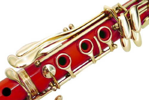 160-RD-N - RED/LACQUER Keys Bb B flat Clarinet Lazarro+11 ...