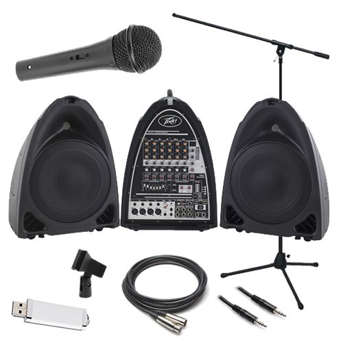 Peavey Pvi Portable Pa System Performer Pak W/ Microphone, Stand & Cable