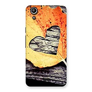 Impressive Leaf Heart Back Case Cover for Micromax Canvas Selfie Lens Q345