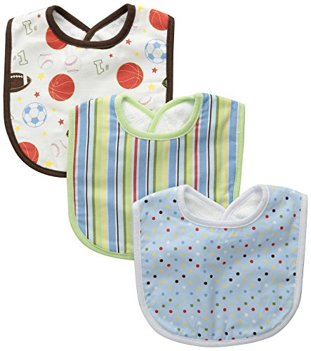 Trend Lab Little MVPBib Set, Blue, 3-Count