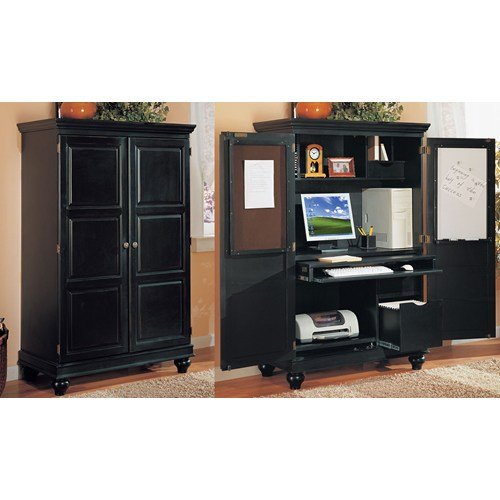 Computer Armoire in Black