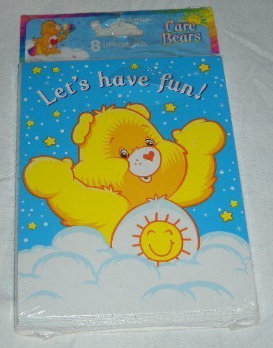 Care Bears Rainbow Invitations w/ Envelopes (8ct) (Care Bears Invitations compare prices)