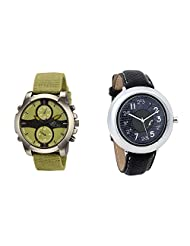 Gledati Men's Green Dial & Foster's Women's Grey Dial Analog Watch Combo_ADCOMB0002136