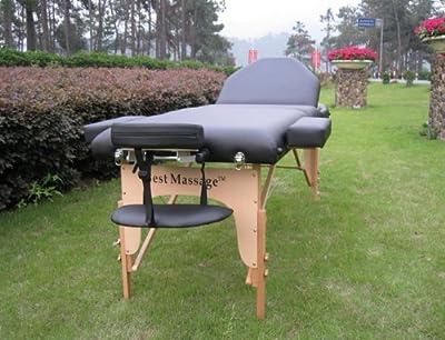 "Reiki Black 77""L 4"" Pad Portable Massage Table Bed Spa"