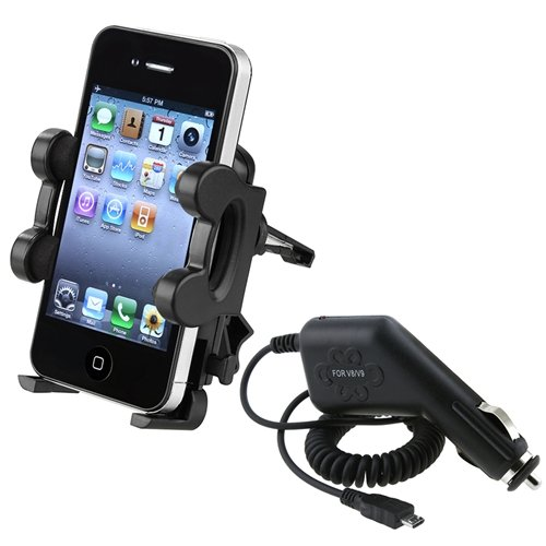 eForCity Car Vent Mount Holder+Charger For Samsung© Galaxy S2 S 2