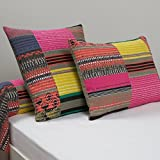 La Redoute Interieurs La Paz Printed Cotton Pillowcase Brown Size 50