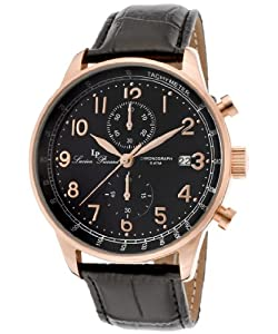 Lucien Piccard Men's LP-10503-RG-01-BK Montilla Analog Display Japanese Quartz Black Watch from Lucien Piccard