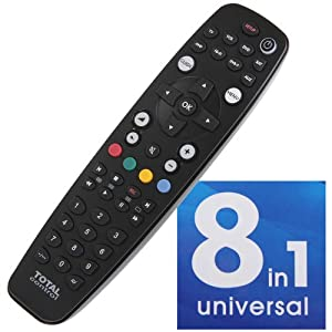 Total control 8 in 1 universal remote black for Total home control