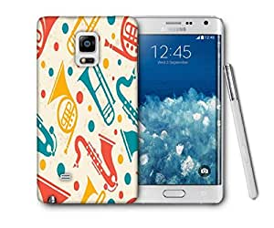Snoogg Music Instruments Printed Protective Phone Back Case Cover For Samsung Galaxy NOTE EDGE