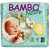 Bambo Nature Premium Baby Diapers, Midi, 33 Count size 3