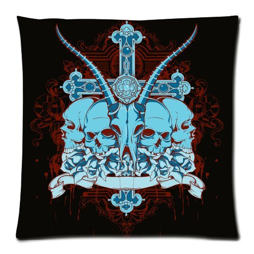 Home Decor Personalized The Skull And Cross Art Picture Zippered Throw Pillow Cover Cushion Case 18X18 (Two Sides) back-948292