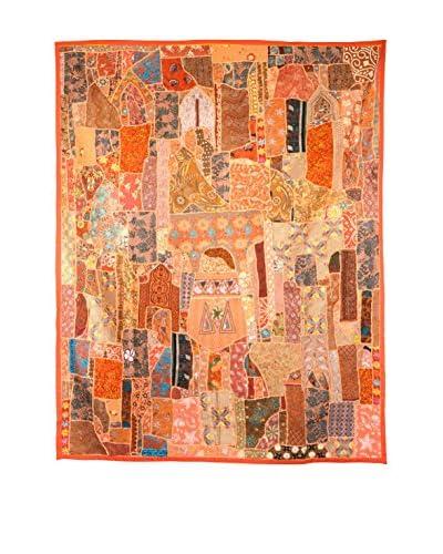 Uptown Down One-of-a-Kind Panel of Vintage Tribal Collars, Orange