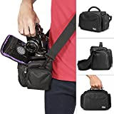 Camera Bag Case by Altura Photo for DSLR - Mirrorless - Compact Cameras and Lenses (Padded Shoulder Travel Bag)