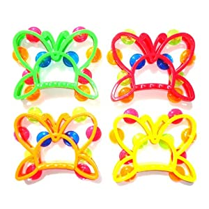 Children's Toy Musical Percussion Instrument Butterfly Tambourine Set for Kids