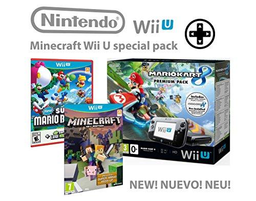 Nintendo Wii U Premium Pack 32GB + Mario Kart 8 + Minecraft WiiU + Super Mario & Luigi U - Super pack 4 giochi !