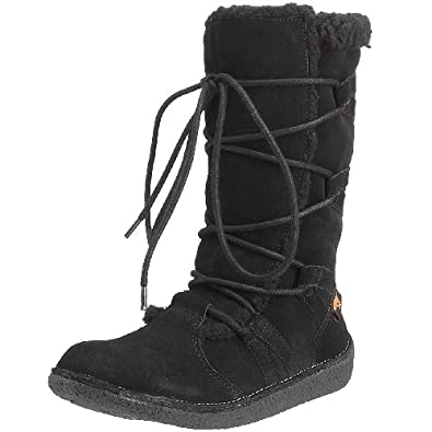 Rocket Dog Women's Hazel Black Fur Trimmed Boots HAZELSD 3 UK